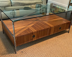 Modern Coffee Table w/ Waterfall Pattern