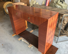 Modern Hall Table w/ Diamond Waterfall