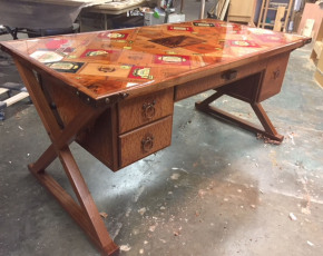 Desk w/ Cigar Box Top
