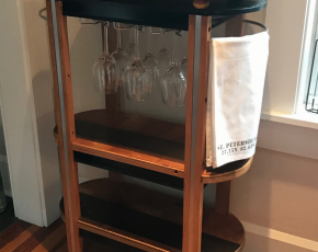 Repurposed Bar Cart