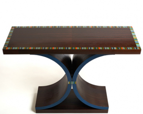 DC Hall Table w/ Colorful Inlaid Border