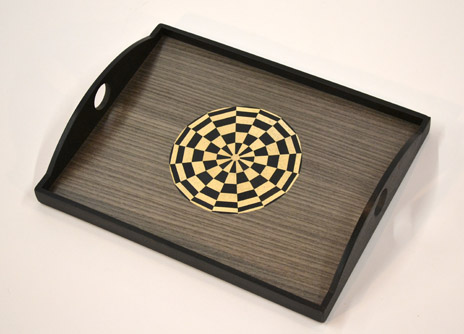 Black and White Circle Tray 2