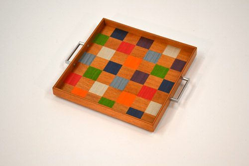 Colorful Squares Tray