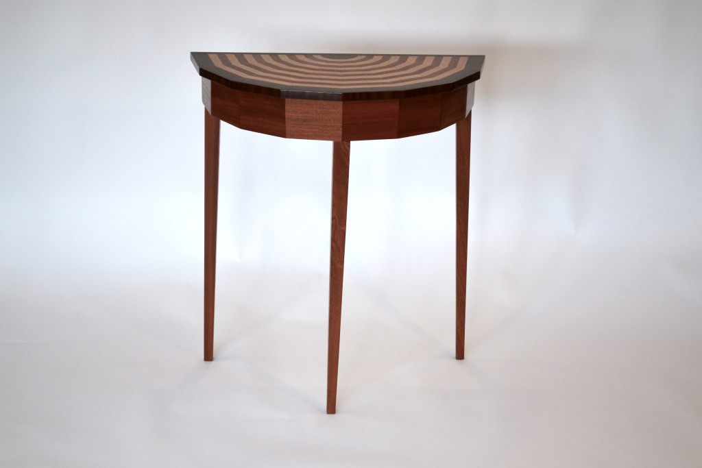 Angled Demilune Table