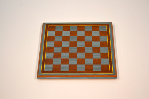 Sapele and Blue Chessboard