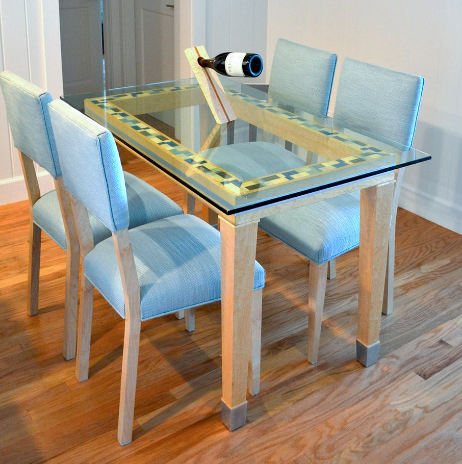 Glass-Top Breakfast Table and Chairs
